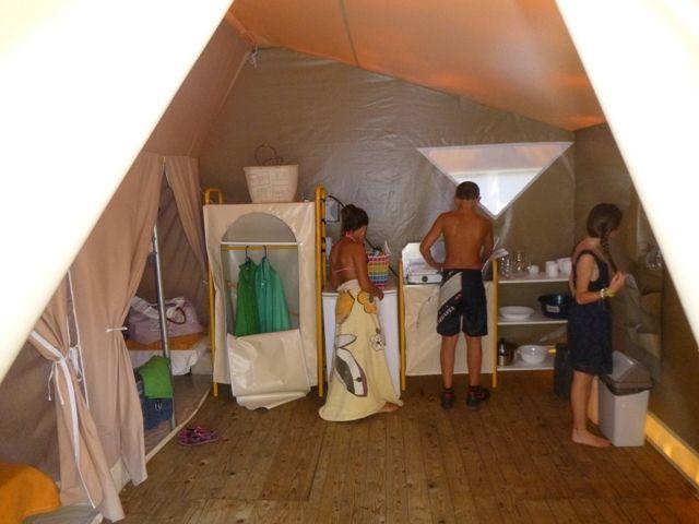 bungalow toilé camping Cévennes