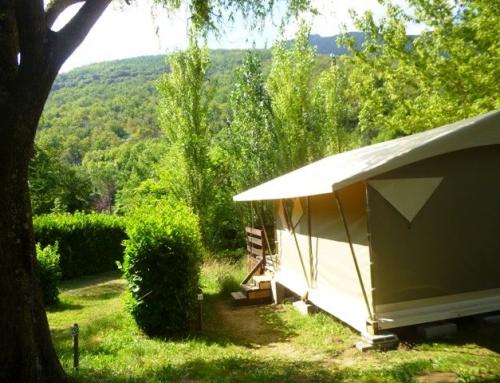 Le bungalow toilé, l'idéal en famille de 4 à 5 pers.