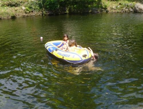 Baignade en rivière dans l'Hérault