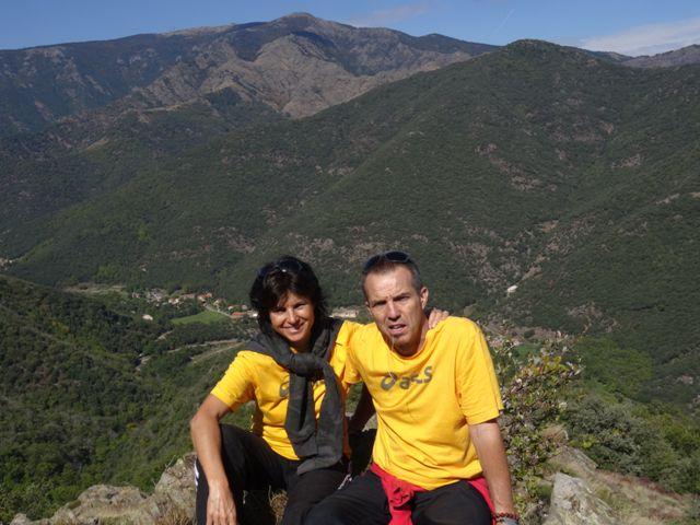 randonnée Cévennes vue sur Mont Aigoual et le Mourétou Valérie et Fabrice