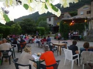 Evening jazz concert at Mouretou