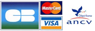 moyens de paiement: cb et chèques vacances