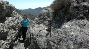 randonneur sur 4000 Marches Mont Aigoual Valleraugue