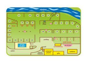 Plan du camping Le Mouretou