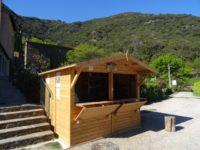 Chalet d'accueil camping le Mouretou à Valleraugue dans le Gard